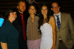 CS friends at our wedding