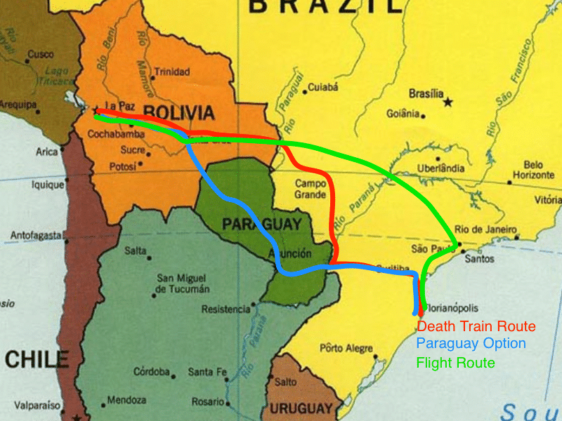 Florianopolis to La Paz