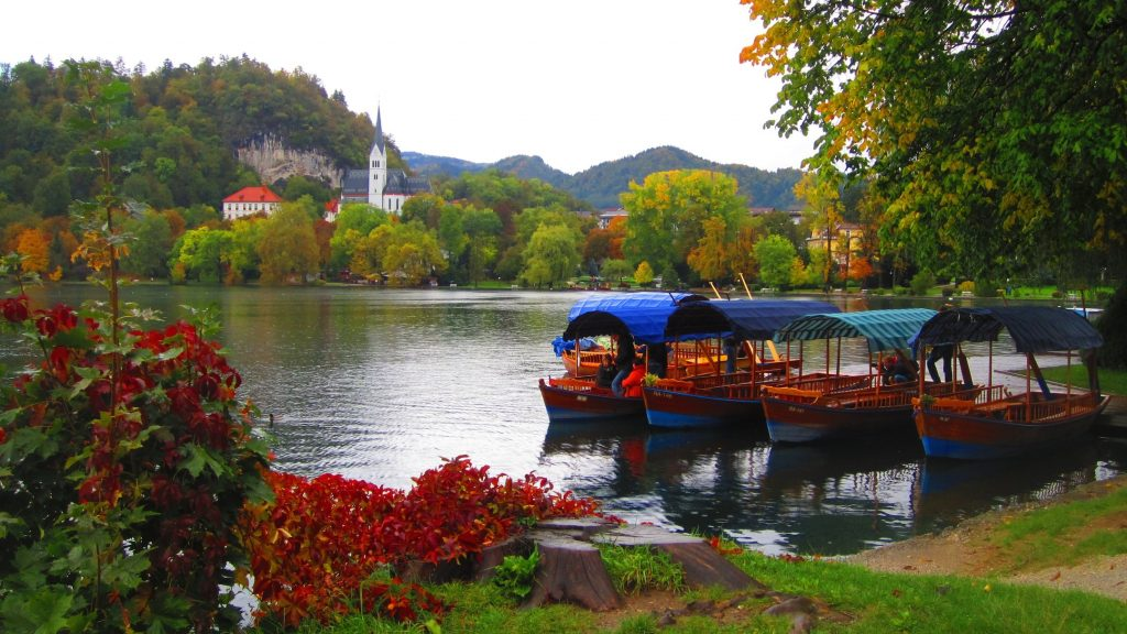 Lake Bled Boats Slovenia