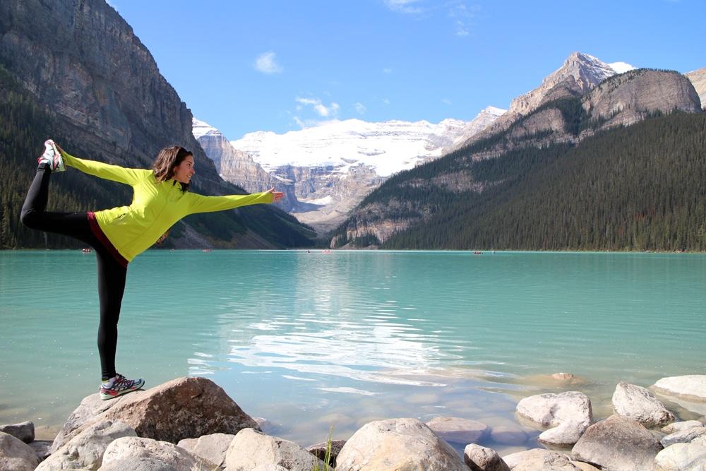 Yoga at Lake Louise