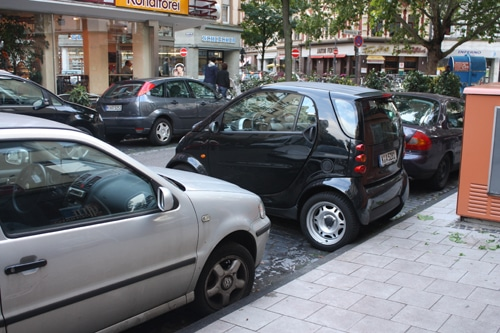 Smart Car Parked Sideways