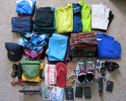 how to pack for a wekk trip