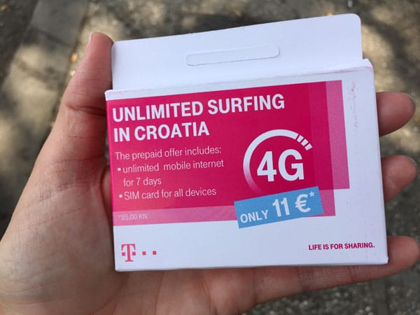 How to Get a Croatian SIM Card with Unlimited Data