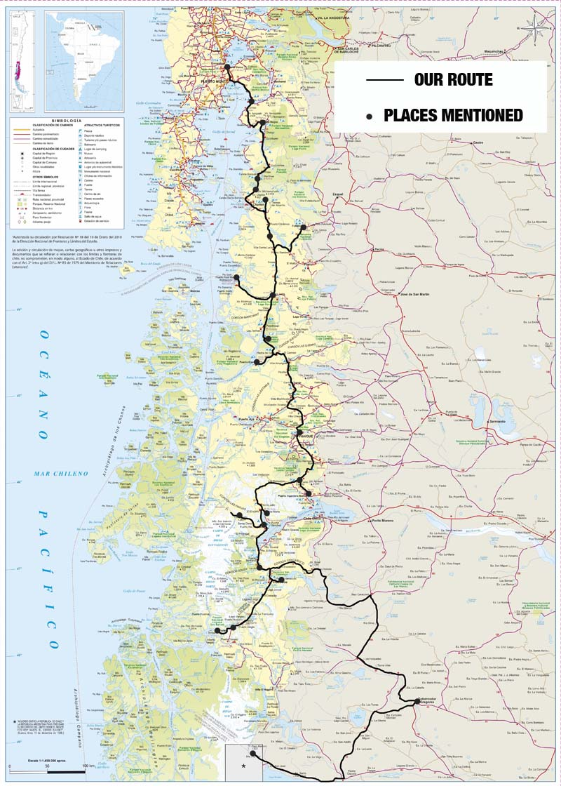 Patagonien Highlights Karte.How To Drive The Carretera Austral Patagonia S Ultimate